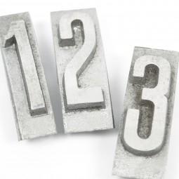 Einzelbuchstabe (Block) «ZAHL»