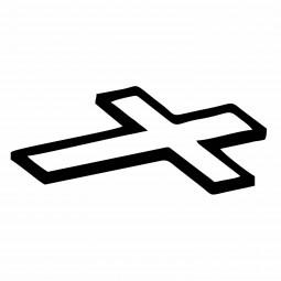 Liegendes Kreuz (schrägliegend)